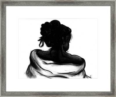 Shawl Framed Print by Charonda Taylor