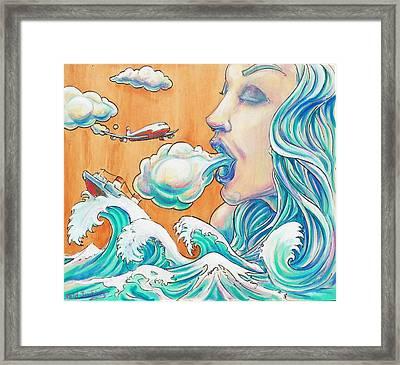She Blows Framed Print by Reid Jenkins