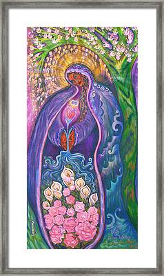 She Gives Birth To Living Waters Framed Print by Shiloh Sophia McCloud