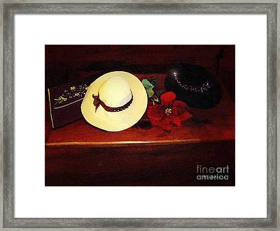 She Loved Hats Framed Print by RC DeWinter
