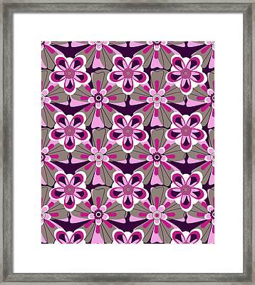 She Loves Me Floral Framed Print by Lisa Noneman