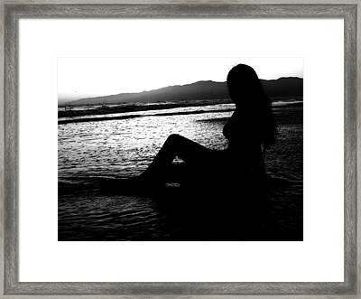 She Waits Framed Print by Misty Herrick
