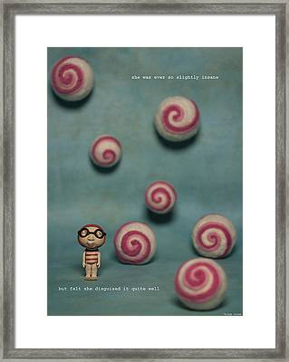 She Was Ever So Slightly Insane Framed Print by Kina Crow