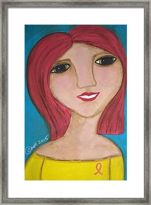 She Wears A Pink Ribbon  Framed Print by Micki Rongve