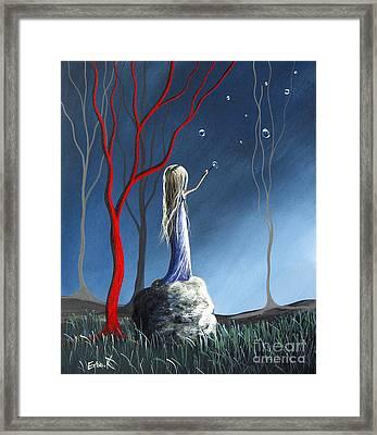 She Whispers Her Dreams By Shawna Erback Framed Print by Shawna Erback