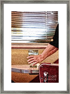 She Works Hard For The Money Framed Print by Lois Bryan