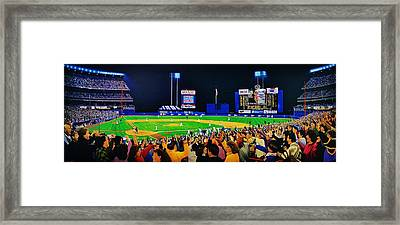 Shea Stadium Classic Framed Print by Thomas  Kolendra