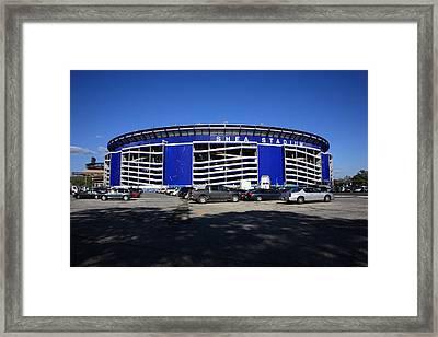 Shea Stadium - New York Mets Framed Print by Frank Romeo