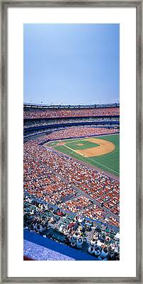Shea Stadium, Ny Mets V. Sf Giants, New Framed Print by Panoramic Images
