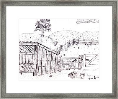 Shed 2 Framed Print by Clark Letellier