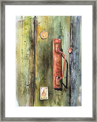 Shed Door Framed Print by Sam Sidders