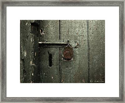 Shed Of Secrets Framed Print by RC DeWinter