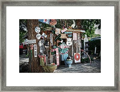 Shed Toilet Bowls And Plaques In Seligman Framed Print by RicardMN Photography