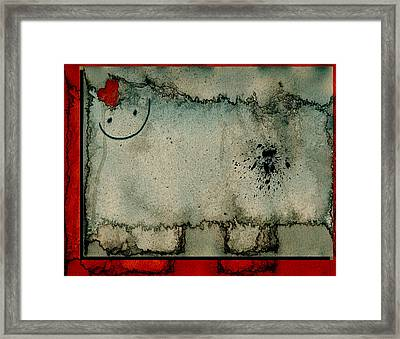 Sheep Or Not So - Bb06 Framed Print by Variance Collections
