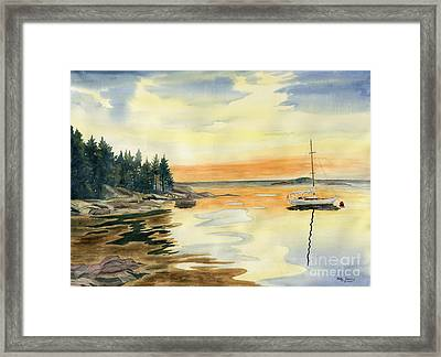 Sheepscot Bay - Southport Island Maine Framed Print by Melly Terpening