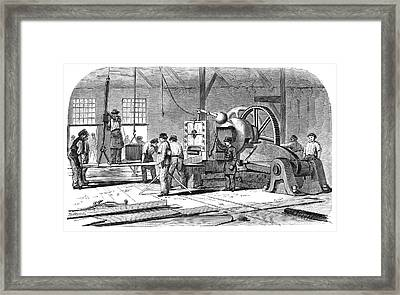 Sheet Metal Workers Framed Print by Science Photo Library