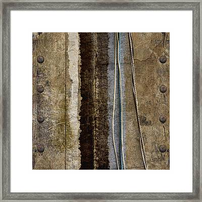 Sheetmetal Strings Framed Print by Carol Leigh