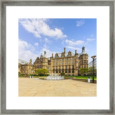 Sheffield Town Hall And Fountain Framed Print by Colin and Linda McKie