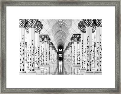 Sheik Zayed Mosque Framed Print by Hans-wolfgang Hawerkamp