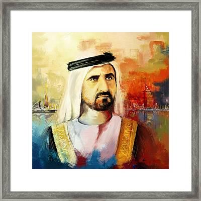 Sheikh Mohammed Bin Rashid Al Maktoum Framed Print by Corporate Art Task Force