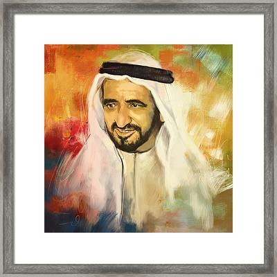 Sheikh Rashid Bin Saeed Al Maktoum Framed Print by Corporate Art Task Force