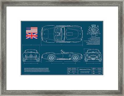 Shelby American 427 Cobra Blueplanprint Framed Print by Douglas Switzer
