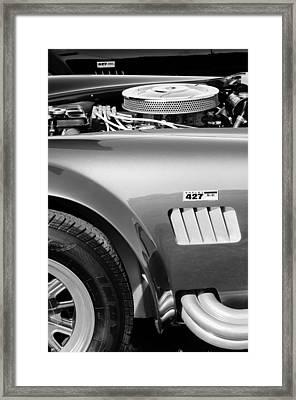 Shelby Cobra 427 Engine Framed Print by Jill Reger