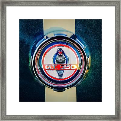 Shelby Cobra Gt 350 Emblem -0639c Framed Print by Jill Reger