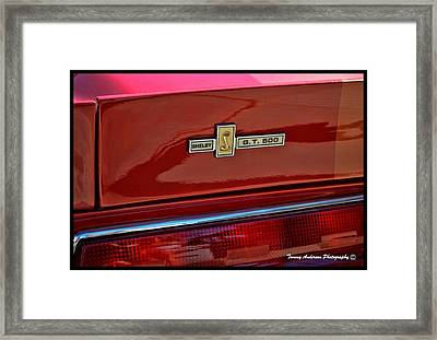 Shelby Gt 500 Mustang 4 Framed Print by Tommy Anderson