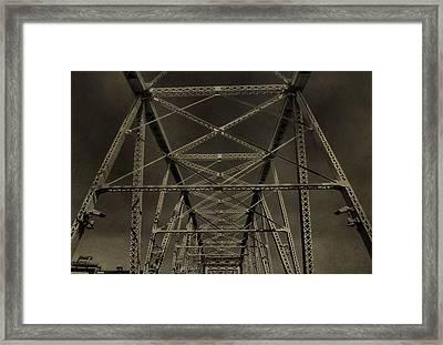 Shelby Street Bridge Details Nashville Framed Print by Dan Sproul