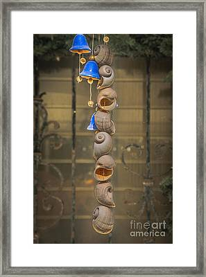 Shell And Bell Wind Chime - Hdr Style Framed Print by Ian Monk