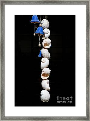 Shell And Bell Wind Chime Framed Print by Ian Monk
