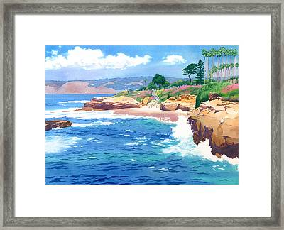 Shell Beach La Jolla Framed Print by Mary Helmreich