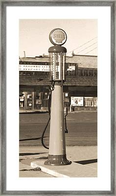Shell Gas - Wayne Visible Gas Pump 2 Framed Print by Mike McGlothlen