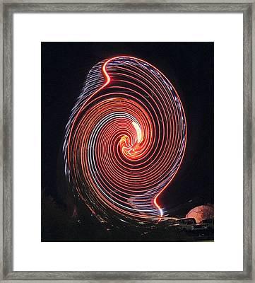 Shell Swirl Framed Print by Marian Bell