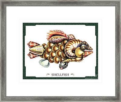 Shellfish Framed Print by JQ Licensing