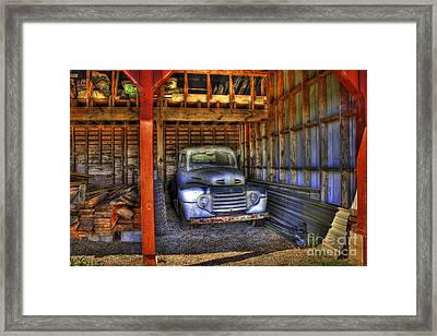 Shelter Me Old Ford Pickup Truck  Framed Print by Reid Callaway