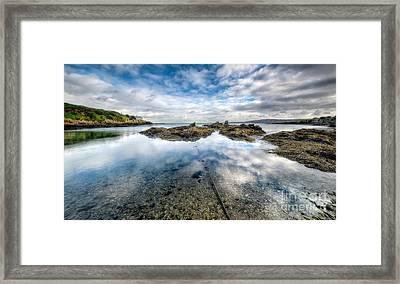 Sheltered Bay Framed Print by Adrian Evans