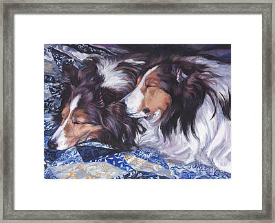Sheltie Love Framed Print by Lee Ann Shepard