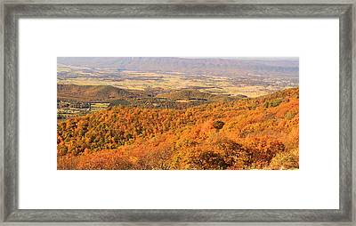 Shenandoah Valley In Autumn Framed Print by Dan Sproul