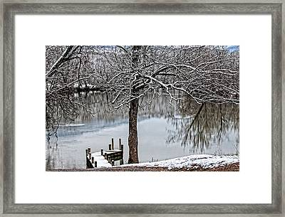 Shenandoah Winter Serenity Framed Print by Lara Ellis