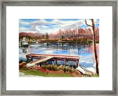 Shepherd Mountain Lake In Winter Framed Print by Kip DeVore
