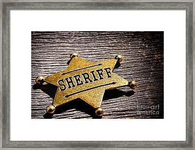 Sheriff Badge Framed Print by Olivier Le Queinec