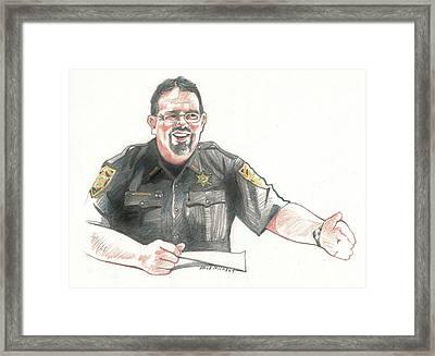 Sheriff Mike Headley Framed Print by Dale Michels