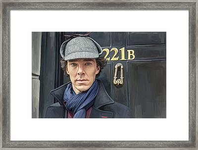 Sherlock Holmes Artwork Framed Print by Sheraz A