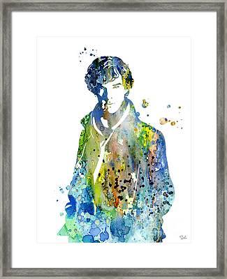 Sherlock Holmes Framed Print by Luke and Slavi