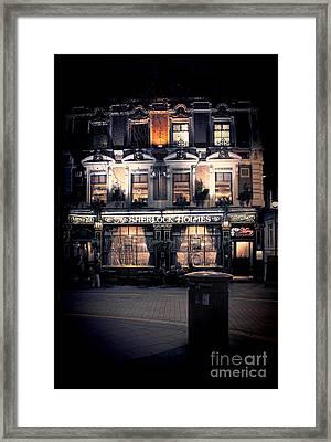 Sherlock Holmes Pub Framed Print by Jasna Buncic
