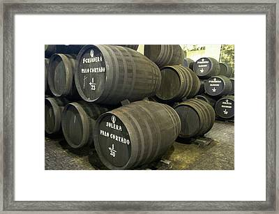 Sherry Barrels Framed Print by Louise Murray