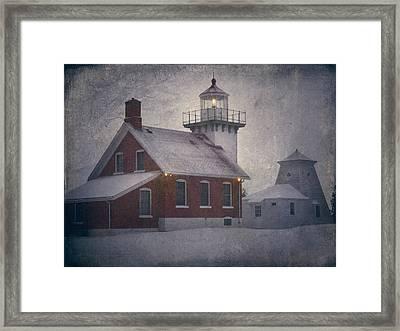 Sherwood Point Light Framed Print by Joan Carroll