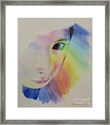 She's A Rainbow Framed Print by Martin Howard